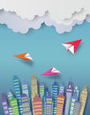 Paper plane. Royalty Free Stock Photo