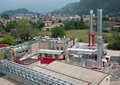 Paper and pulp mill - Cogeneration plant Stock Image