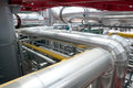 Paper and pulp mill - Cogeneration plant Royalty Free Stock Photo