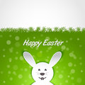 Paper rabbit easter card greeting Stock Photography