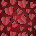Paper red hearts cut from Stock Photos