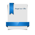 Paper with ribbons blank blue Stock Image