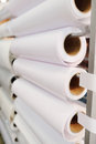 Paper roll in a printshop