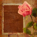Paper rose frame background Royalty Free Stock Photo