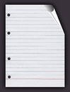 Paper ruled sheet Royalty Free Stock Images