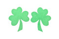 Paper saint patrick s shamrocks decoration st on isolated white background Royalty Free Stock Photo