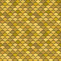 Paper scales seamless vector squama gold metal pattern Royalty Free Stock Photo