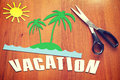 Paper scraps about vacation conceptual image Stock Photos