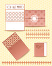 Paper set of papers with ornamental design envelope pattern Stock Photography