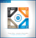 Paper shapes origami infographics an elegant way to show your data and statistics ideal for product ranking and infocharts Royalty Free Stock Images