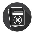 Paper Sheet Cross Document Contract Web Icon