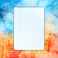 Paper sheet grungy background eps layered file Stock Image