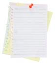 Paper sheet and pin Royalty Free Stock Photo