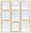 Paper sheets lined paper and note paper vector illustration Stock Photo