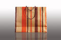 Paper shopping bag for gift on a background Royalty Free Stock Photos