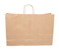 Paper shopping bag isolated on white Stock Images