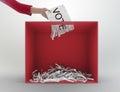 Paper shredder ballot box Royalty Free Stock Photo