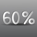 Paper sixty percent on a gray background Royalty Free Stock Image
