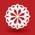Paper snowflake on red Royalty Free Stock Photo
