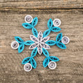 Paper snowflakes made with quilling technique Royalty Free Stock Photo
