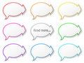 Paper speech bubbles Royalty Free Stock Photos