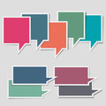 Paper speech bubbles Stock Photos