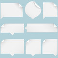Paper Speech Bubbles Royalty Free Stock Photography