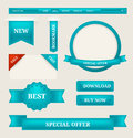 Paper tags, labels web design elements Royalty Free Stock Photos
