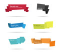 Paper tags origami abstract set of Royalty Free Stock Photography