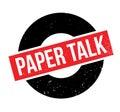 Paper Talk rubber stamp