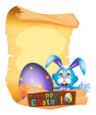 Paper template for Easter holiday