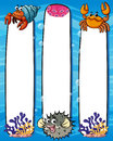 Paper template with sea animals