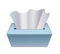 Paper tissue in cardboard box Royalty Free Stock Photo