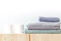 Paper towels and Folded towel Royalty Free Stock Photo