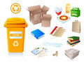Paper waste and garbage Royalty Free Stock Photos