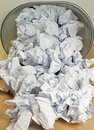 Paper waste some symbolizing no ideas Royalty Free Stock Photography