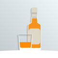Paper whiskey Royalty Free Stock Photos