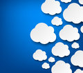 Paper white clouds on blue Royalty Free Stock Photo