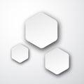 Paper white hexagonal notes Royalty Free Stock Photo