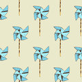 Paper windmill pattern Royalty Free Stock Photo