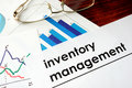 Paper with words inventory management. Royalty Free Stock Photo