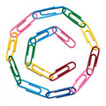 Paperclip abstract composition ``copyright`` Stock Image