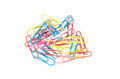 Paperclip color of on white background Stock Images