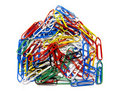 Paperclip House Royalty Free Stock Photo