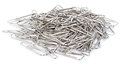The paperclips isolated on the white background Royalty Free Stock Photo