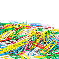 Paperclips on white background Stock Image