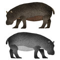 Papercut Hippopotamus Recycled Paper Royalty Free Stock Photography