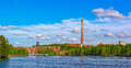 Papermill in Kuusankoski, Finland Royalty Free Stock Photo