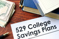 Papers with 529 College Savings Plans Royalty Free Stock Photo