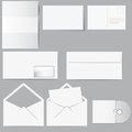 Papers and envelops Royalty Free Stock Photo